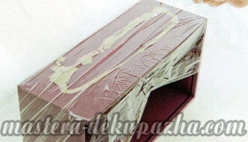 Декупаж деревянной салфетницы 10