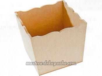 Декупаж фанерной коробки 1