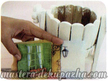 Декупаж деревянного кашпо своими руками 4