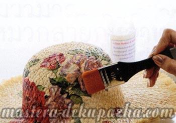 Правильный декупаж шляпы 8