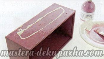 Декупаж деревянной салфетницы 9