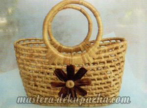 Декупаж плетеной корзины из джута 1