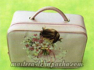 Мастер класс по декупажу сумочки - чемодана 6