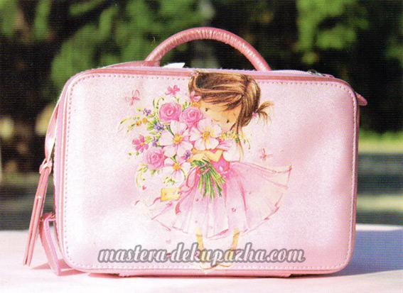 Мастер класс по декупажу сумочки - чемодана 9
