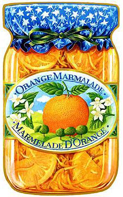 Картинки для декупажа - баночка с апельсиновым вареньем