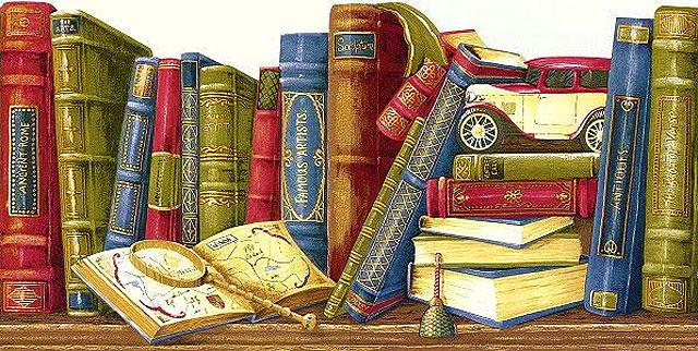 Картинки для декупажа - книги