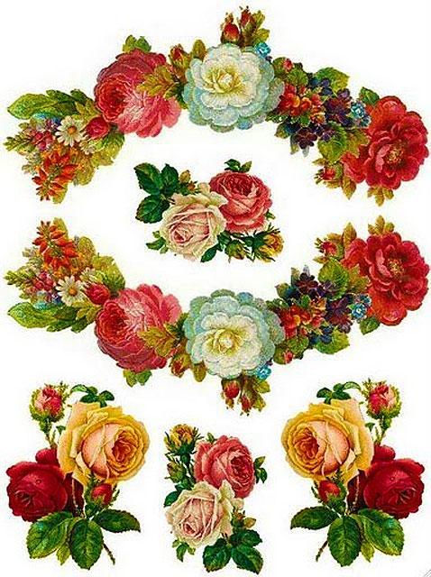 Картинки для декупажа - цветы розы
