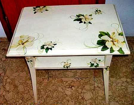декупаж стола