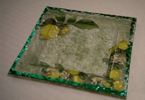 техника декупажа на стекле