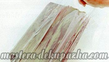 Декупаж деревянной салфетницы 11