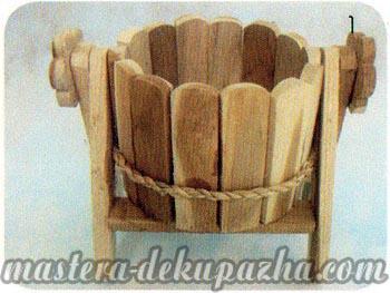 Декупаж деревянного кашпо своими руками 1