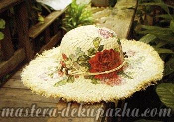 Правильный декупаж шляпы 1
