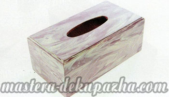 Декупаж деревянной салфетницы 12