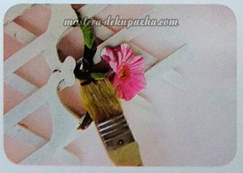 Декупаж кашпо для цветов 12