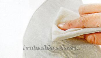 декупаж косметички из искусственной кожи 2