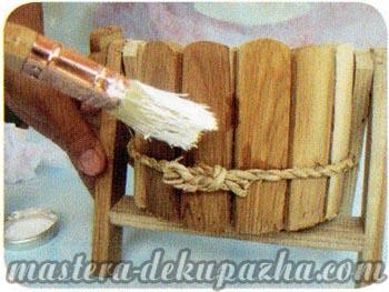 Декупаж деревянного кашпо своими руками 2