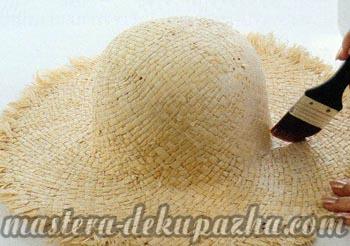 Правильный декупаж шляпы 4
