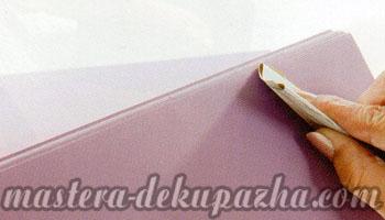 Декупаж деревянной салфетницы 5