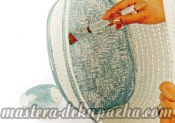 Декупаж плетеной корзины 5