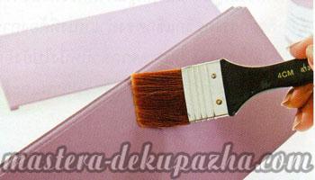 Декупаж деревянной салфетницы 6