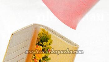Декупаж кошелька украшение желтыми цветами Декупаж Ажиотаж