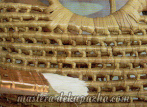 Декупаж плетеной корзины из джута 2