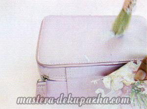 Мастер класс по декупажу сумочки - чемодана 3