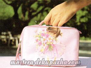 Мастер класс по декупажу сумочки - чемодана 8